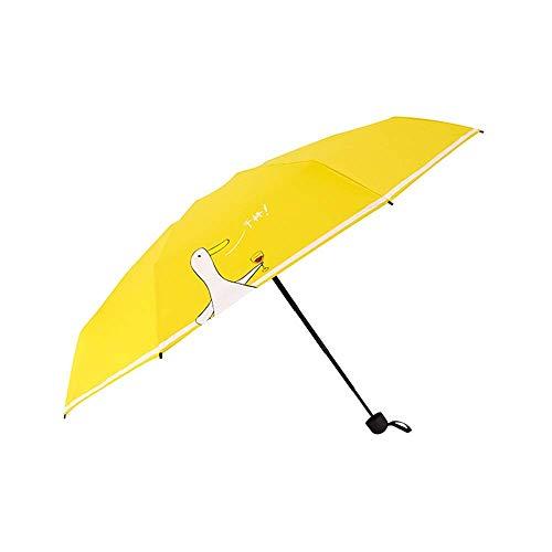 YXDEW Folding Umbrella Travel Umbrella for Women Windproof Sun Block Rain Guard Windproof Umbrella Compact Travel Umbrella waterproof
