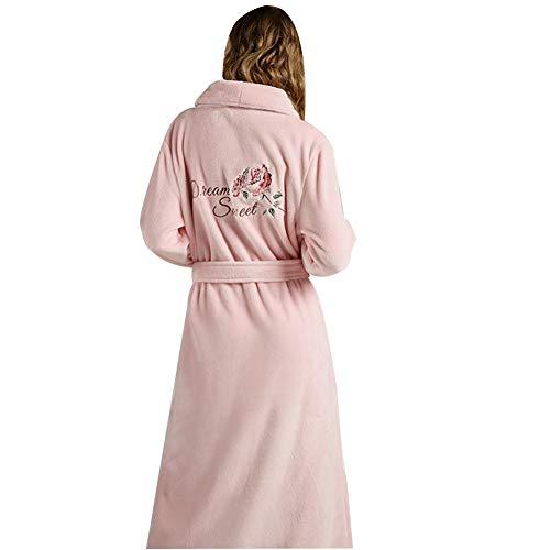 ZZUU Albornoz de Ducha para Hombre y Mujer, 2 Bolsillos, Cinturón - Albornoz Suave, Absorbente, para Gimnasio, La Ducha, El Hotel,Pink,XL