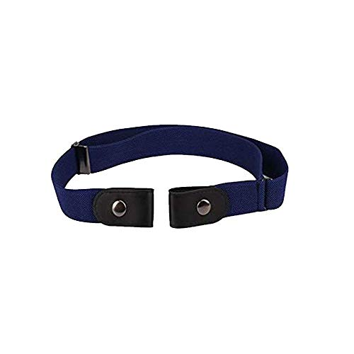 AOLVO Stretch-Gürtel ohne Schnalle für Damen/Herren, ohne Schnalle, elastischer Gürtel für Jeans, Hosen, Kleider, unvisobler Gürtel, kein Ausbauen, kein Ärger,Schwarz