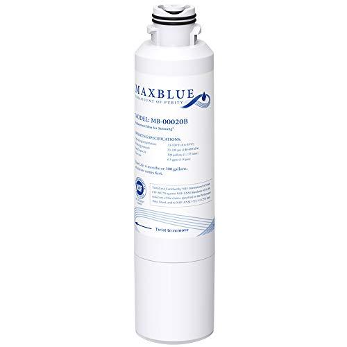 Maxblue DA29-00020B Refrigerator Water Filter, Replacement for Samsung HAF-CIN/EXP, DA29-00020A/B, DA97-08006A, RF28HMEDBSR, RF4287HARS, RF263TEAESG, RH22H9010SR, 1 Filter