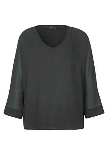 Street One Damen Chiffon-Shirt im Layer-Look Comfort Green 42