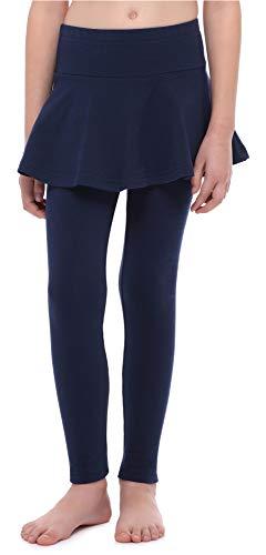 Merry Style Leggings Lunghi con Gonnellino Bambina e Ragazza MS10-254 (Marino, 110 cm)