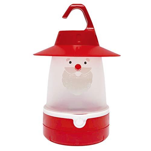 Time Concept Smile Cap Soft LED Night Lantern - Santa Lantern - Hanging Lamp, Battery-Operated