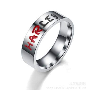 niumanery Comics Suicide Squad Quinn and The Joker Lover Couple Stainless Steel Wedding Rings Gift Harley 10#
