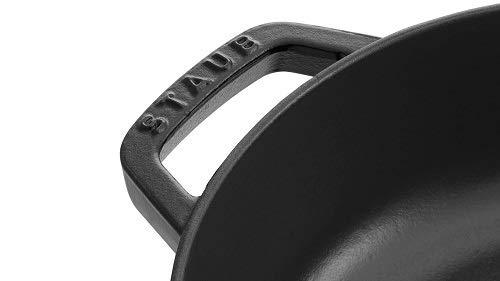 staubストウブ「ブレイザーソテーパンブラック24cm」両手鋳物ホーロー鍋浅型すき焼きIH対応【日本正規販売品】Braiser40511-473