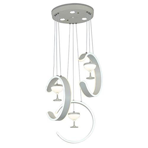 Iluminación de techo Iluminación colgante Lámpara colgante de aluminio moderna de silicona acrílico colgante de luz simple blanco accesorio Copa de vino tipo C araña - Iluminación de interior