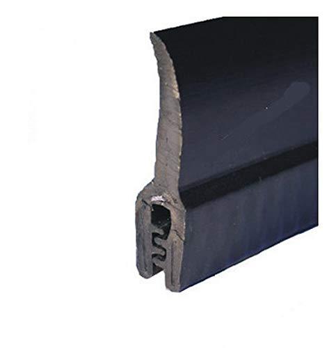 EUTRAS Kantenschutz 0 EUTRAS KSD2152-Junta de goma para puerta de maletero, rango de sujeción 0,5-2,0 mm, color negro-3 m, Länge