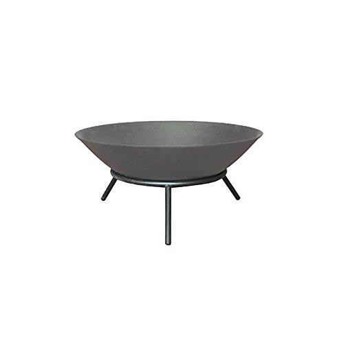 Home Deluxe - Feuerschale in grau- Grey Bowl - Ø 56 cm - Inkl. DREI Stahlbeine