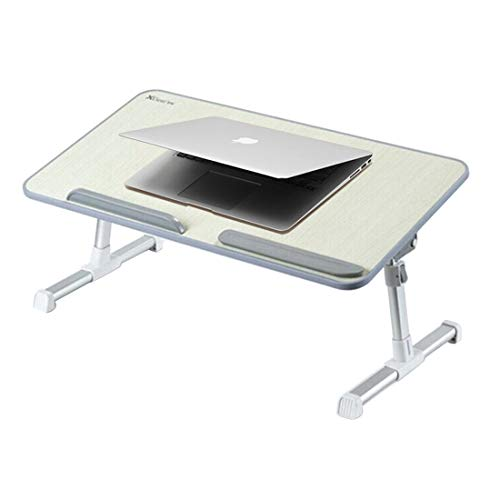 WXX Portable Folding Adjustable Lifting Small Table Desk Holder Stand for Laptop/Notebook, Support 17 inch and Below Laptops, Max Load Weight: 40kg, Desk Surface Size: 60 * 30cm(Grey)