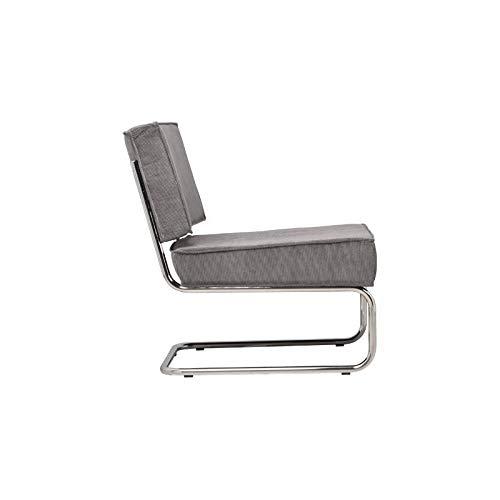 Zuiver Poltrona design Ridge Lounge Rib grigio