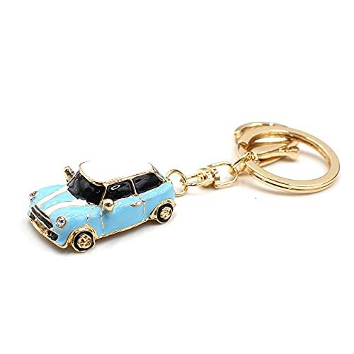 VmG-Store Mini portachiavi Cooper Kult Auto in metallo regalo per i fan Azzurro S
