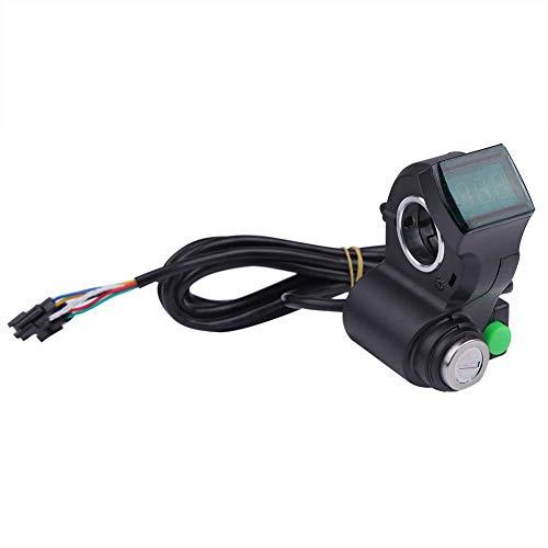 OKBY Acelerador Pulgar Electrico - Pantalla De Voltaje Bicicleta Eléctrica Cerradura Interruptor...