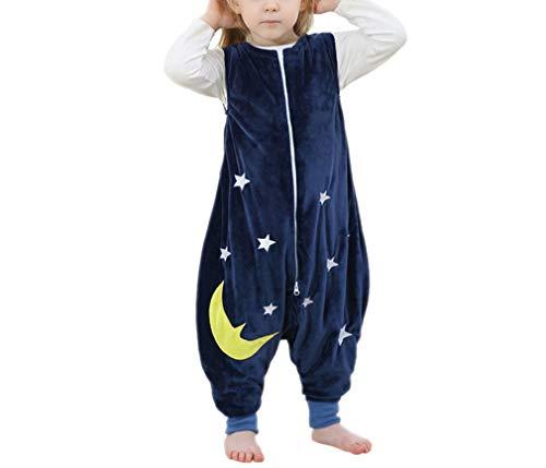Emmala baby slaapzak kinderen slapen casual chique zak slaapzak alle seizoenen met voeten (blauw L 5 6 jaar) elegante comfortabele huis moderne stijl