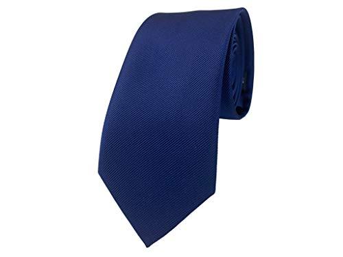 BUNCHERY & SONS handgefertigte 7,0 cm Satin Krawatte blau dunkelblau königsblau nachtblau marineblau navy blue twilight blau blauekrawatte