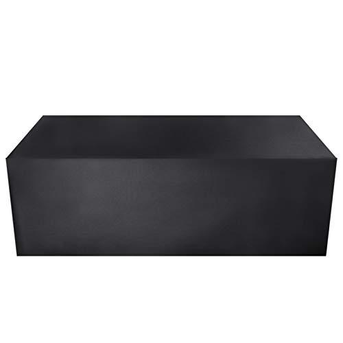 AWSAD Cubierta para Muebles de Patio, Muebles de Patio al Aire Libre Impermeables, 30 tamaños (Color : Negro, Size : 120x120x85cm)