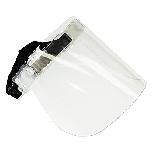 Gesichtsschutz mit Visier Transparent - 260 x 220 m, Schutzhelm mit Visier für sicheren Hygieneschutz