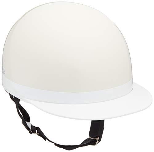 バイクパーツセンター ヘルメット ハーフ 白ツバ ホワイト XL (頭囲 61cm~62cm未満) 710915