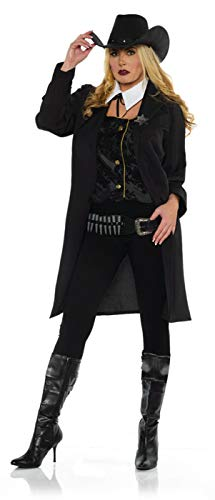 UNDERWRAPS Women's Wild West Gunslinger Outlaw Costume Small 4-6 Black