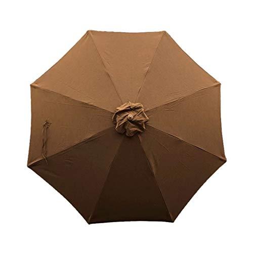 Formosa Covers Sunbrella Fabric 9ft 8 Ribs Outdoor Patio Market Replacement Umbrella Canopy (Canvas Teak)