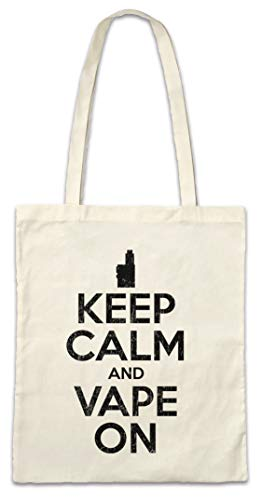 Urban Backwoods Keep Calm and Vape On Hipster Bag Beutel Stofftasche Einkaufstasche