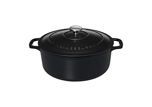 Chasseur 4726 ronde-26 cm Cocotte ronde, 5 liters, Mat (intérieur Noir)