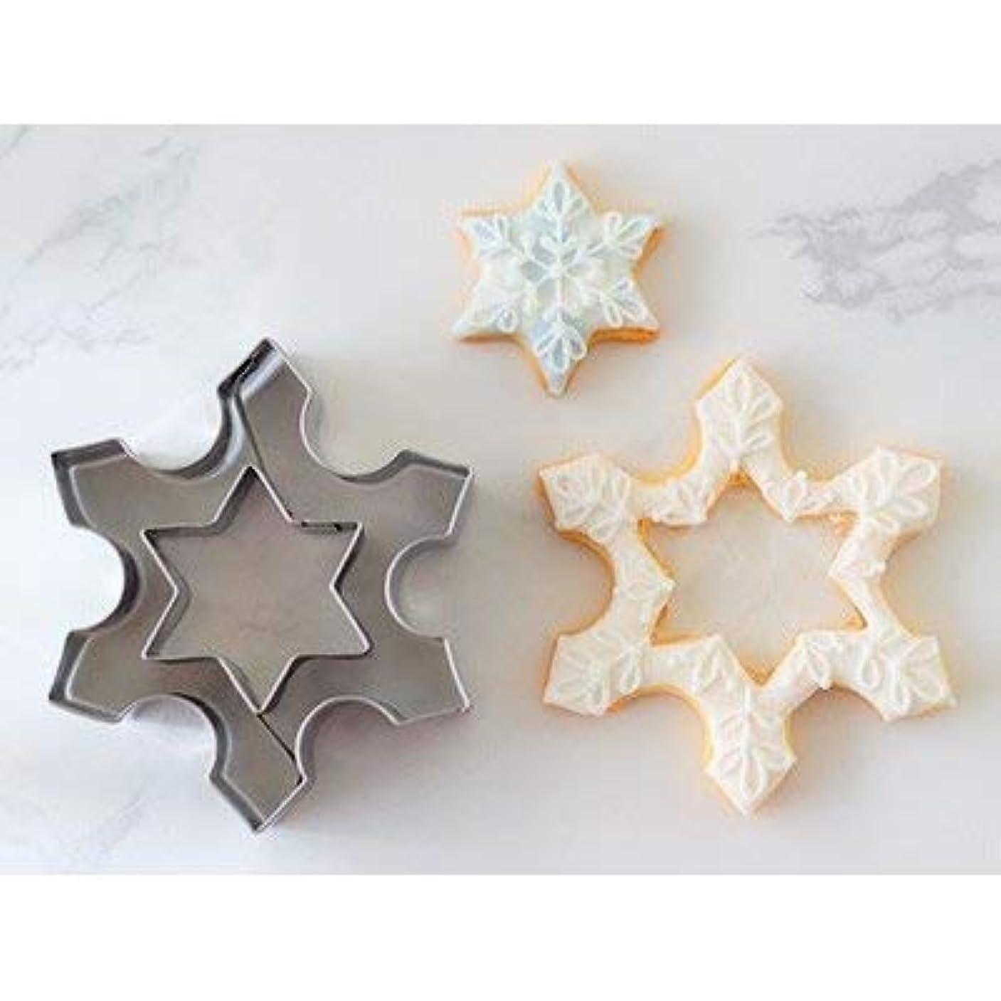 偽装する予報振る舞いcotta クリスマスクッキー型 雪の結晶 星