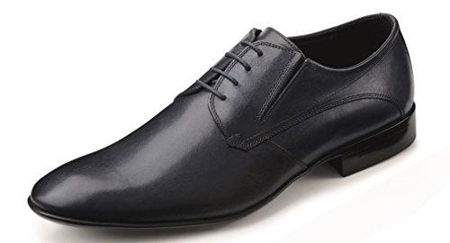 Klassische Lederschnürschuhe der Marke Wilvorst in der Farbe Blau Größe 40