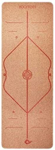 YOOMAT 5mm Cork Rubber Body Line Yoga Mat Multi Use Activity for Pilates Fitness Hot Yoga Eco-Friendly Non Slip Exercise Mats 183  65cm