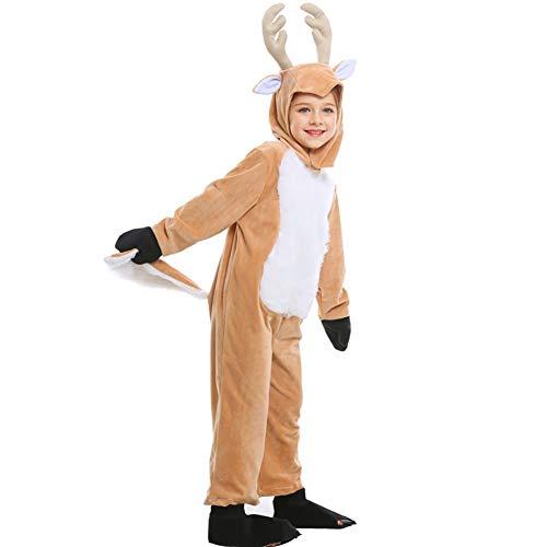 47-B Ropa de Navidad para adultos y hombres y mujeres para niños, Cos Elk Reno Animal Dress Trajes de centro comercial (color: A, tamaño: pequeño)