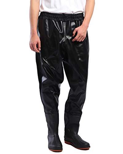 Impermeable Pantalones Vadeadores De Pesca Medio Cuerpo Botas Waders para Pesca De Lanzar Transpirables Unisexo Negro 100 44