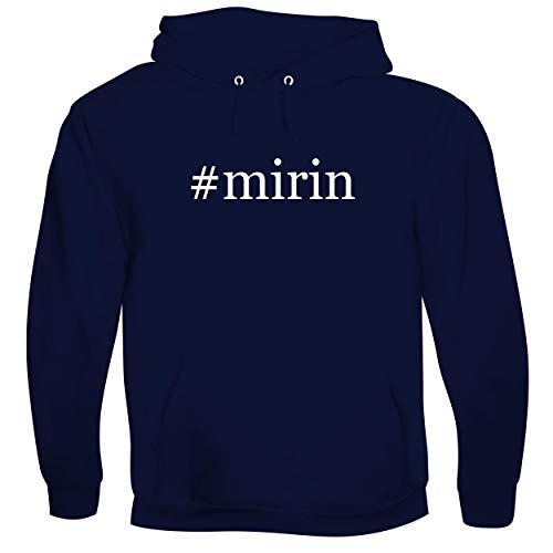 #mirin - Men's Hashtag Soft & Comfortable Hoodie Sweatshirt Pullover, Navy, Medium