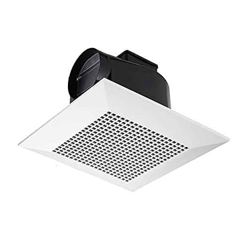 Ventola di scarico 8 '10' Fan di scarico del soffitto del soffitto Ventola di plastica Ventilatore di scarico per il bagno della cucina Ventilatore a soffitto silenzioso con valvola di ritegno, condot