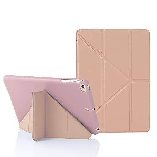 MuyDoux Funda para iPad Mini 5 / 4 / 3 / 2 iPad Mini 7,9 Pulgadas, 5 en 1 Múltiples Ángulos de Visión, Carcasa Frontal de Silicona Lisa con Contraportada de TPU Suave, Auto Sueño/Estela (Oro Rosa)