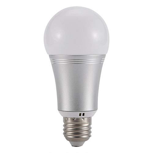 Bombilla LED E27 regulable a todo color con Wi-Fi inteligente, compatible con Alexa y Google Assistant,...