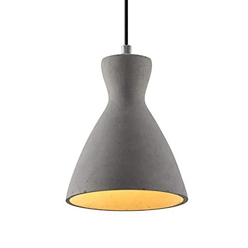 HLY Lámpara de araña simple, lámpara colgante, lámpara de techo, lámpara de techo, colgante de hormigón industrial vintage, accesorio colgante rústico de cemento E26, altura ajustable de 150 cm, colg