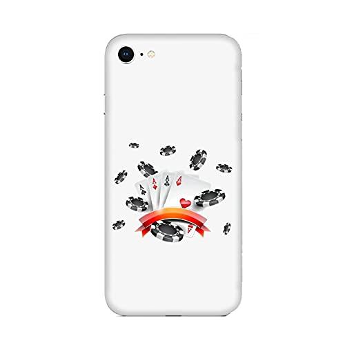 Funda Carcasa Compatible con Apple iPhone 6 Juego de póquer Tarjetas con Peces/Imprimir también en los Lados. / Teléfono Hard Snap en Antideslizante Anti-Rayado Resistente a los Golpes rígido
