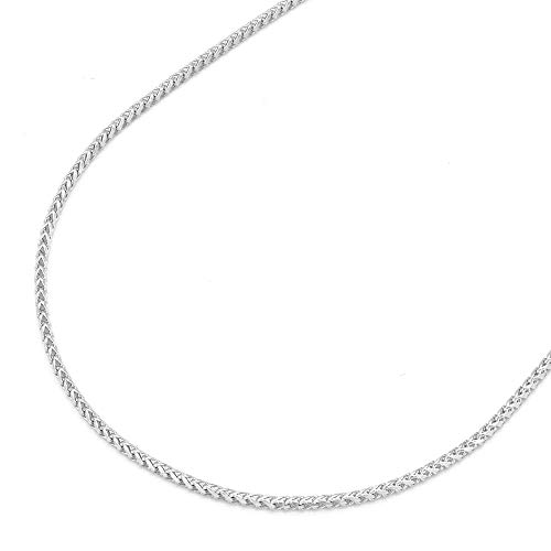 "Solid 14k Yellow, White & Rose Gold 1.2mm Franco Chain 16"" 18"" 20"" 22"" 24"" HEAVY, White Gold 20"