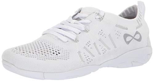 Nfinity Women's Flyte Cheer Stunt Shoe Sneaker, White, 8