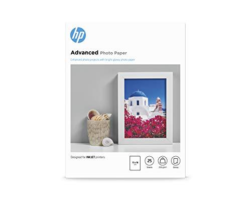 HP Carta Fotografica Lucida HP Advanced Q8696A, Grammatura 250g/m2, Formato 13x18cm, Contenuto da 25 Fogli