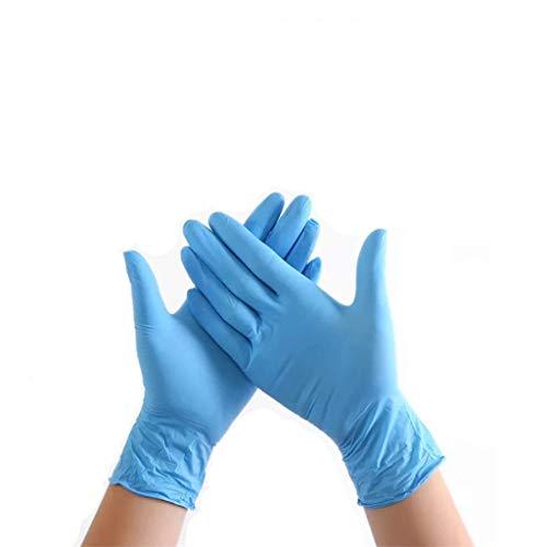 Rifuli 50/100 Stück Nitrilkautschuk Puderfreie Schutzhandschuhe Für Die Lebensmittelverarbeitung Catering-Nagel Inspektion Handschuhe Catering Gummihandschuhe In Lebensmittelqualität (M (100 PC))