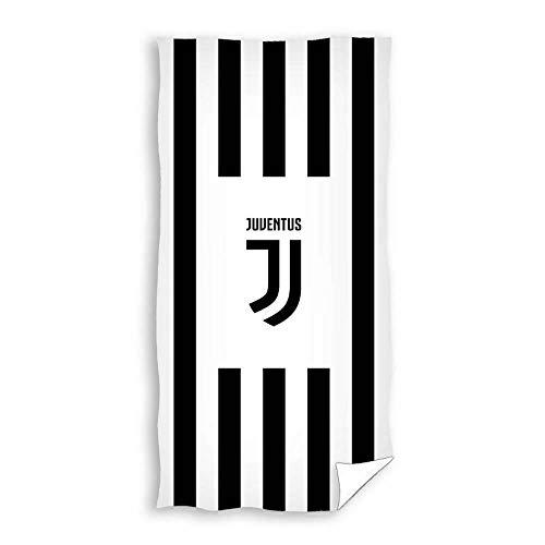 Juventus Turin strandhanddoek, handdoek, douchehanddoek, strepen in 75x140 cm