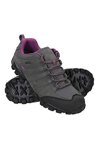 Mountain Warehouse Belfour Wanderschuhe für Damen - leichte Laufschuhe atmungsaktiv, Allwetterschuhe zum Schnüren - Für Trekking, Fitness und Jogging Grau 39 EU