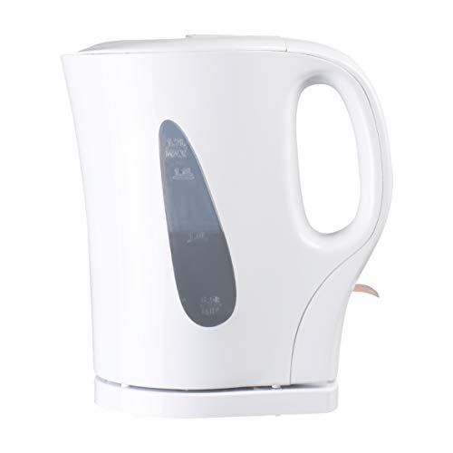 FINE ELEMENTS SDA1567 White Plastic Kettle 1.7Litre Capacity with Stainless Steel...