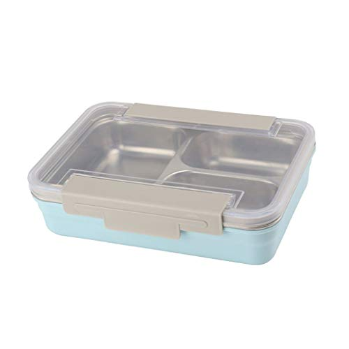JJZXT Bento Box Picnic Actividad al Aire Libre Viaje Cocina Almacenamiento de Alimentos Acero Inoxidable Aislante de Calor Contenedor Caja de Almuerzo