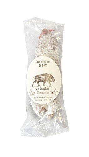 150g Feine Salami mit Wildschwein aus Frankreich / Saucisson de Porc au Sanglier, luftgetrocknete Wildschweinsalami