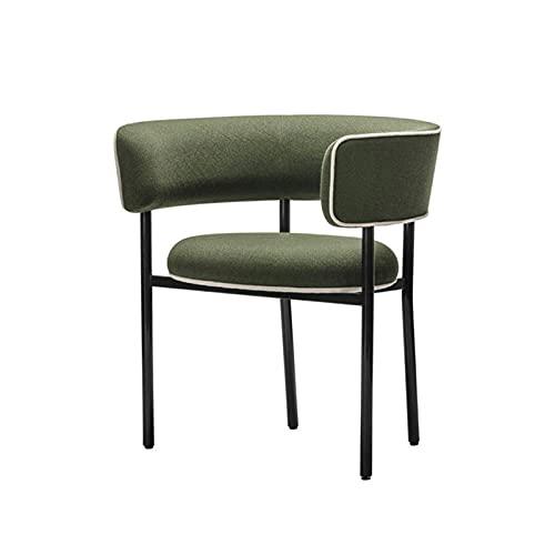 HFVDA Silla de negociación, sillón de café, Silla de Invitados, Silla de Comedor, Silla de sofá de Sala de Estar, Silla de Maquillaje cómoda, Patas de Acero Inoxidable (Color : Green)