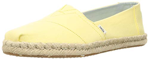 TOMS Womens Classics Plant Dyed Yellow Canvas Rope 38