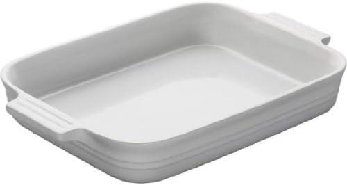 Le Creuset Stoneware 12 1 2 by 9 1 2 Inch Rectangular Baking Dish White product image
