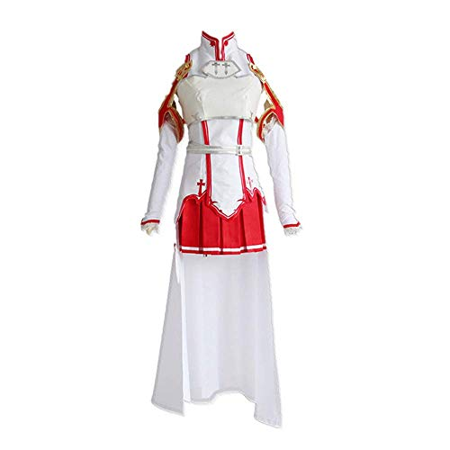 7 UNIDS/Set Anime Sword Art Online Yūki Asuna/Asuna Yuuki Traje de Cosplay JK Japanese High School Mujeres Uniforme Vestido con Accesorios