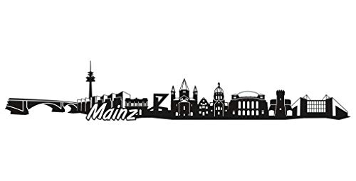 Samunshi® Mainz Skyline Aufkleber Sticker Autoaufkleber City Gedruckt in 6 Größen (15x2,7cm schwarz)